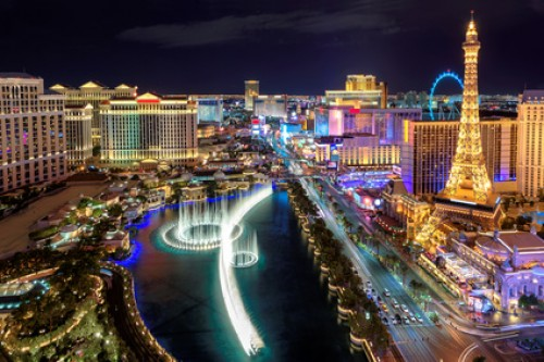 Las Vegas bei Nacht.